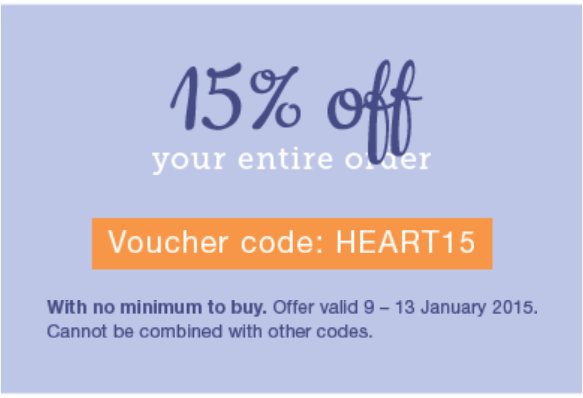 Say hello to 2015 and offer 15%